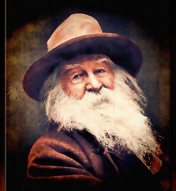 Walt Whitman in Oil by Richard  Gerhard