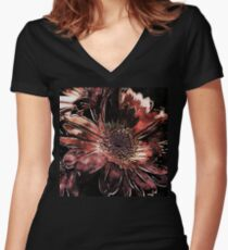 Painted Gerbera Daisies 2 Women's Fitted V-Neck T-Shirt