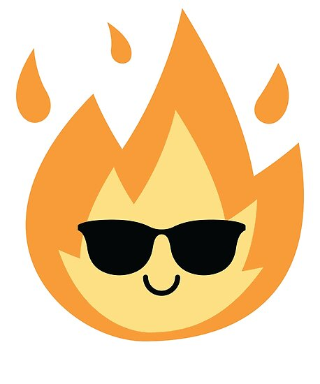 Quot Fire Emoji Quot Poster By Hippoemo Redbubble