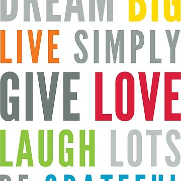 LIFE MANTRA positive cool typography bright colors by edgeplus