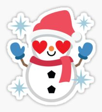 Snowman Emoji  Sticker