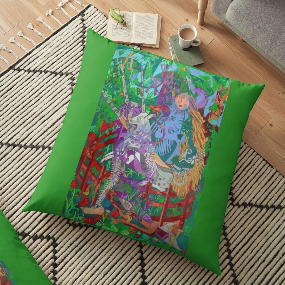 Archeology of the Unicorn Floor Pillow