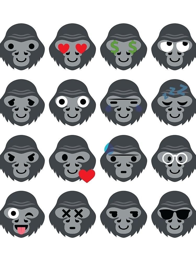 Gorilla Emoji von HippoEmo