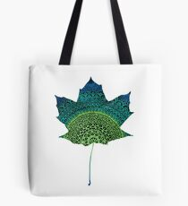 Green Leaf Mandala Tote Bag