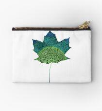 Green Leaf Mandala Studio Pouch