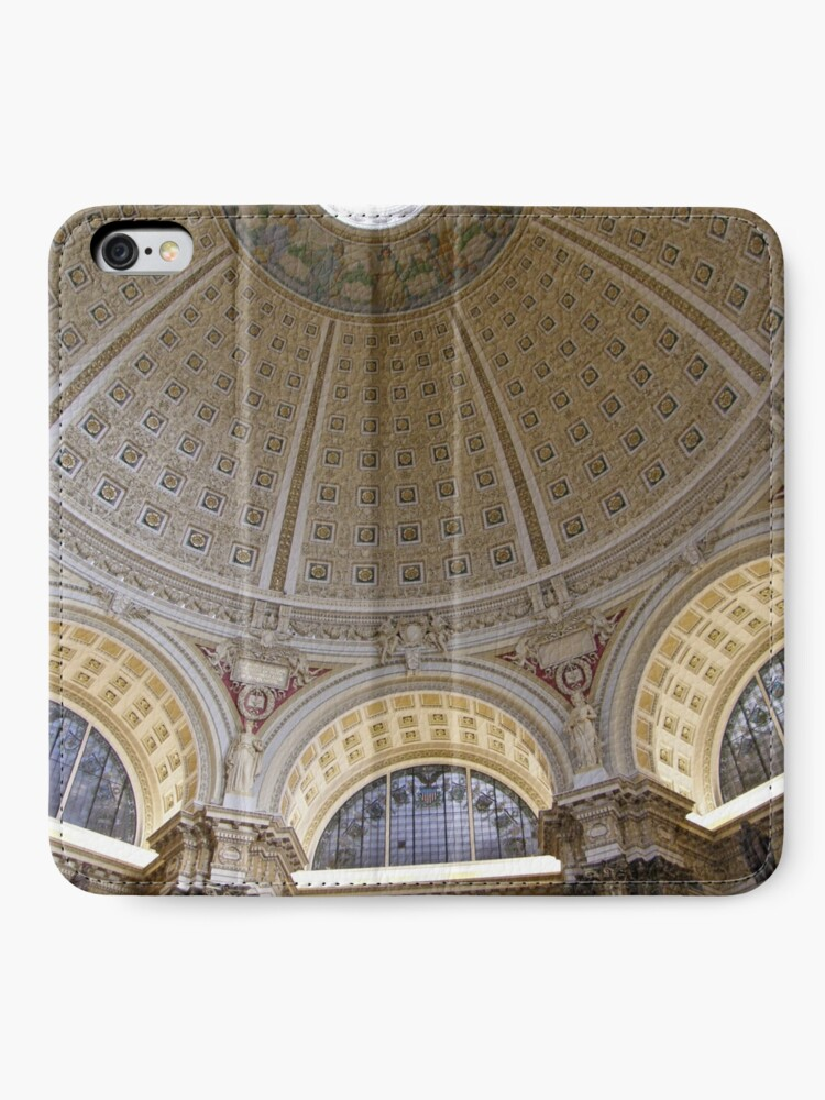 Alternate view of Ceiling of the Library of Congress Reading Room iPhone Wallet