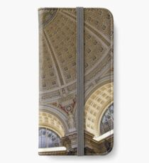 Ceiling of the Library of Congress Reading Room iPhone Wallet/Case/Skin