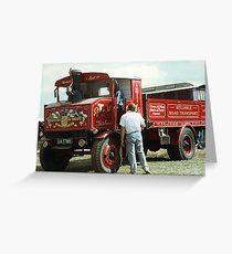 Foden steam truck Greeting Card