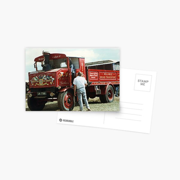 Foden steam truck Postcard