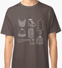 Lumberjack Things T-shirt (White on dark color) Classic T-Shirt