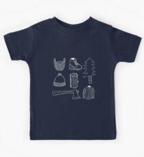 Lumberjack Things T-shirt (White on dark color) Kids Tee