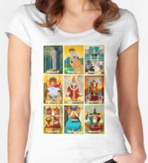 tarot major arcana cards Women's Fitted Scoop T-Shirt