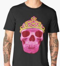 Pink Princess Skull Wearing Tiara Men's Premium T-Shirt