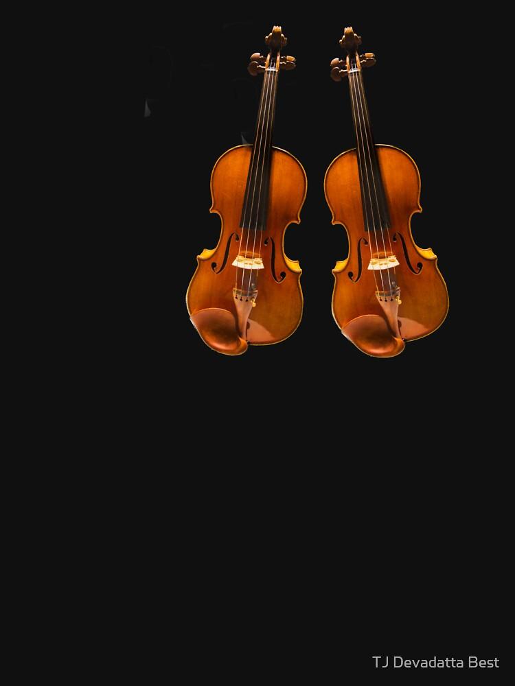 Violin Stradivarius twin | Camiseta entallada de cuello redondo