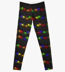 Twinkling Christmas Lights Leggings