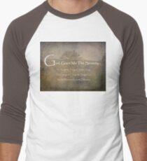 God Grant Me The Serenity Nature Scene Men's Baseball ¾ T-Shirt