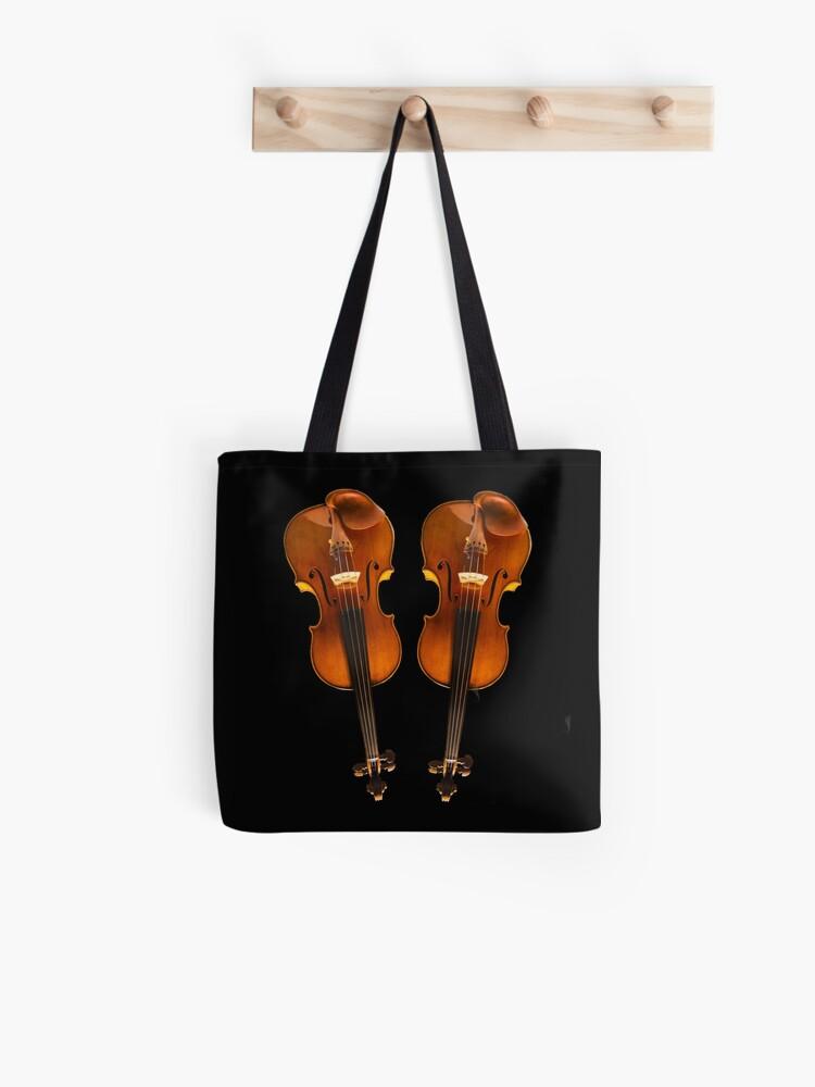 Diseño twin violin Stradivarius | Bolsa de tela