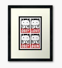 Obey Love Obey Bun Framed Print