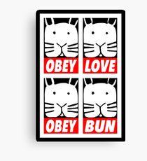 Obey Love Obey Bun Canvas Print
