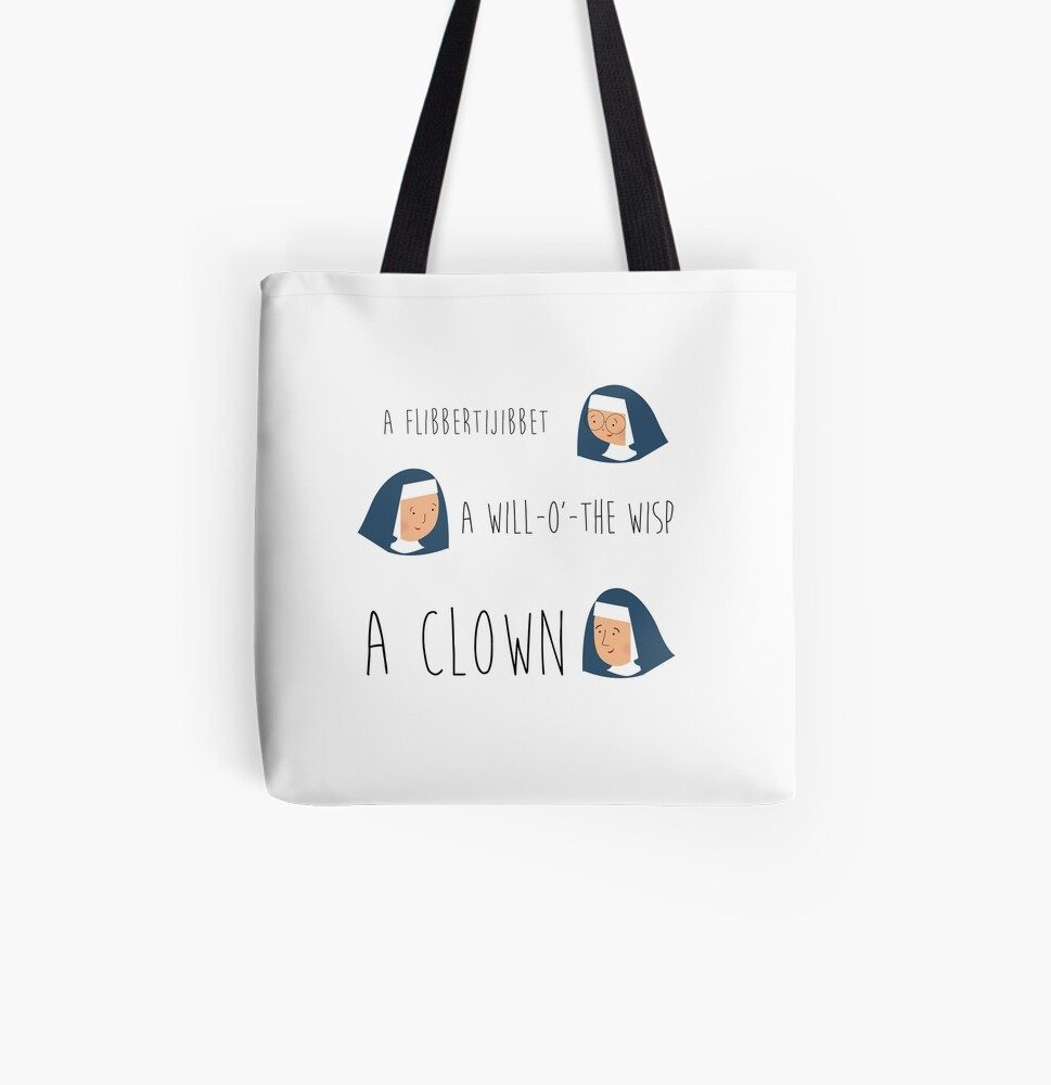 Sound of music nuns All Over Print Tote Bag