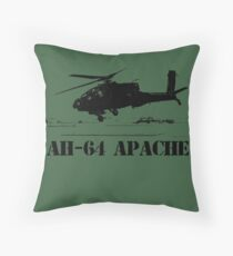 AH64 Apache helicopter Throw Pillow