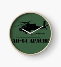 AH64 Apache helicopter Clock