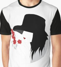 Woman who smelling flowers Graphic T-Shirt