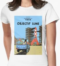 Tintin Objectif Lune Poster Women's Fitted T-Shirt