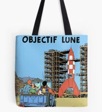 Tintin Objectif Lune Poster Tote Bag