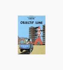 Tintin Objectif Lune Poster Art Board