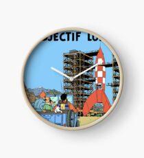 Tintin Objectif Lune Poster Clock