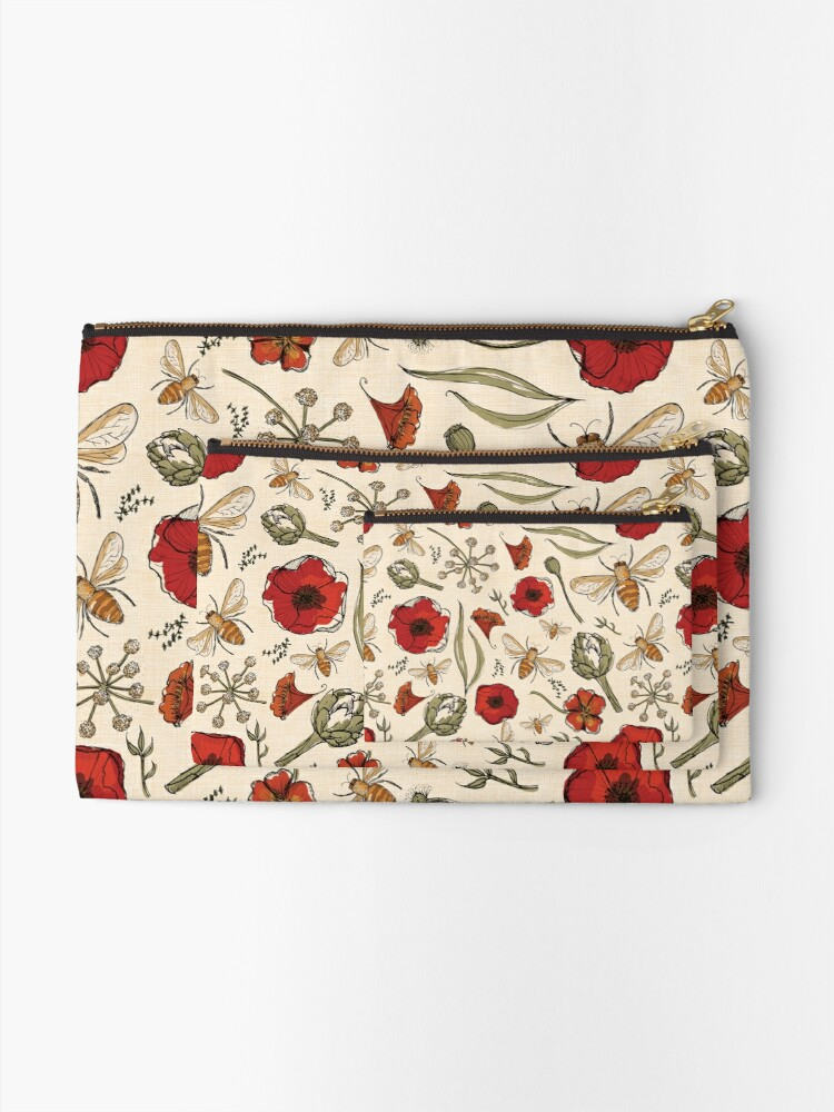 Alternate view of Bees Zipper Pouch