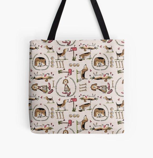 Beagles All Over Print Tote Bag