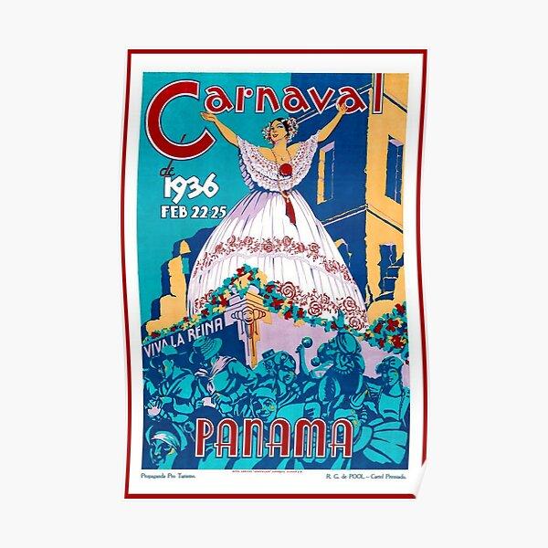 Vintage Panama Travel Poster Poster