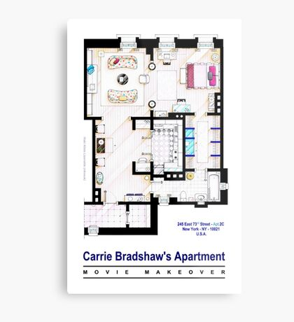 Carrie Bradshaw apt. (Sex and the City movies) Metal Print