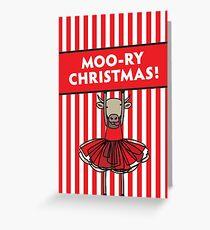 Moo-ry Christmas Greeting Card
