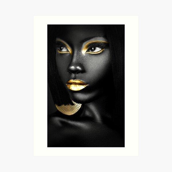REINA AFRICANA Lámina artística