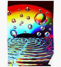 Sound Wave Spectrum Poster