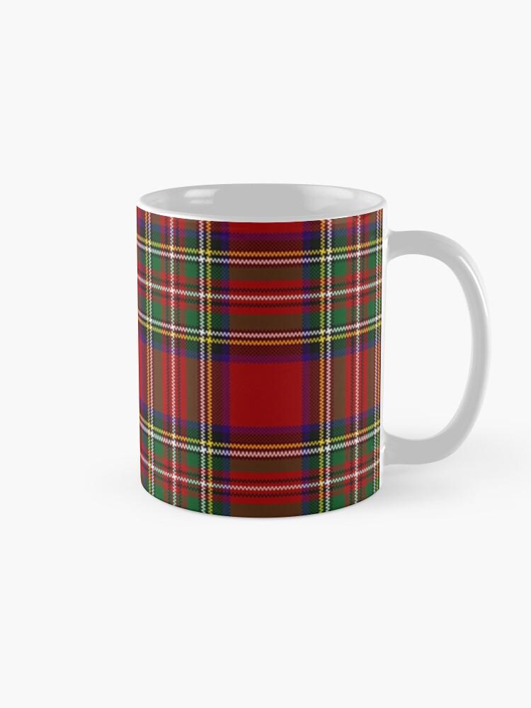 Alternate view of Red Tartan, Stewart Clan Mug