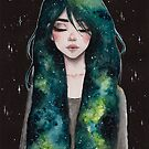 Green galaxy hair by ARiAillustr
