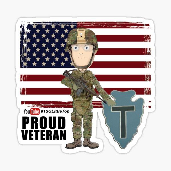 Proud Veteran- 36th ID Sticker
