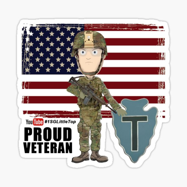 Proud Veteran- 36th ID Sticker