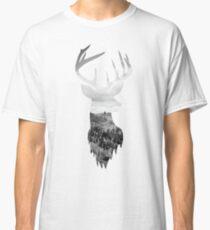 Deer Head Scenic Hills Design Classic T-Shirt