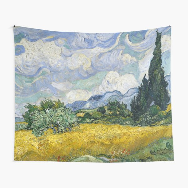 Van Gogh, Wheat Field with Cypresses 1889 Tapestry