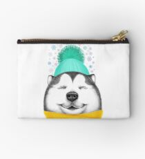 Winter Husky Studio Pouch