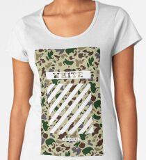 Off White Bape Camo Women's Premium T-Shirt