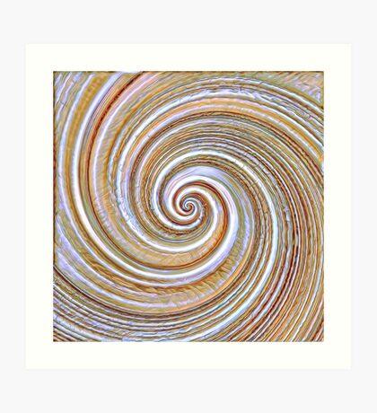 A close up of a cake on Fibonacci table Art Print