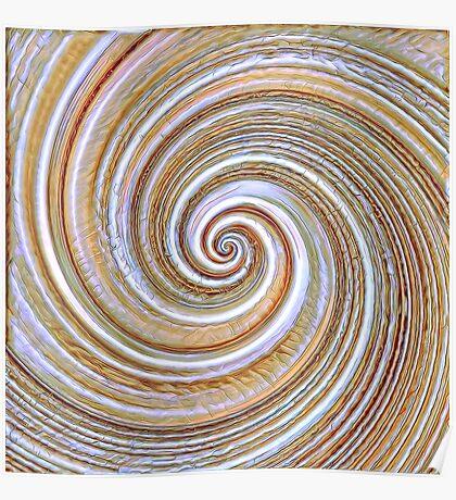 A close up of a cake on Fibonacci table Poster