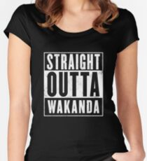 Straight Outta Wakanda Women's Fitted Scoop T-Shirt