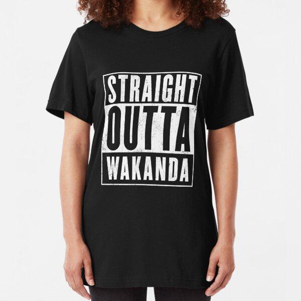 Straight Outta Wakanda Slim Fit T-Shirt